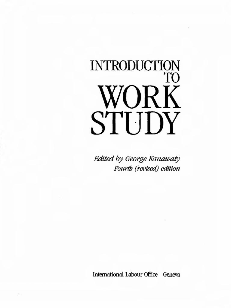 Introduction to Work Study George Kanawaty 4ed | Factors Of