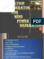 Induction Generator for Wind Power Generation