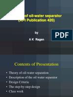 Design of Oil Water Separator - API 420