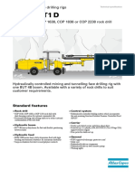 Feed Beams Technical Specifications - Atlas Copco Underground Jumbo Face Drilling Rig