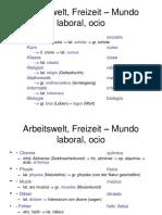Arbeitswelt, Freizeit – Mundo Laboral, Ocio