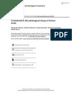 Turbidimetric Microbiological Assay of Amino Acids