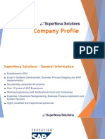 SuperNova Solutions - Company Profile
