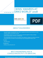 BEACON Awarded as Top SOLIDWORKS Reseller in India on SOLIDWORKS World 2018