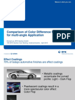Comparison of Color Difference Methodes for Multi-Angle Application Konrad Lex BYK-Gardner