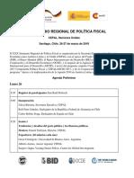 Agenda Xxx Seminario Regional de Politica Fiscal Espanol 200318