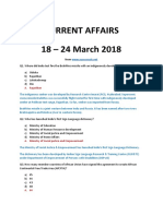 Latest Current Affairs 18 - 24 March 2018