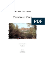 The Final Week of Christ