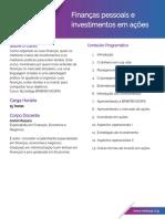 Finanças Pessoais e Investimentos Em Ações