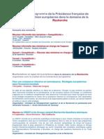 manifestations appui presidence francaise recherche