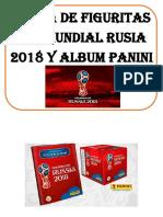 Venta de Figuritas Del Mundial Rusia 2018 y Album Panini