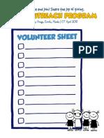 Outreach Sign Up Sheet