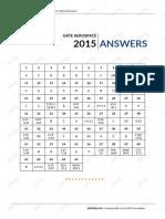 GATE Aerospace 2015 Answers