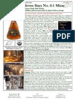 Single Malt Whisky Seven Stars Mizar Productsheet En