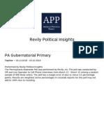 PA Gubernatorial Primary Topline Report