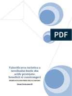 Valorificarea turistica a invelisului biotic din ariile protejate.docx