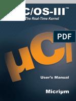 Micrium UCOS III UsersManual
