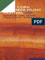 West Cork Chamber Music Festival 2018