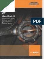 Mine Backfill Soluciones Para Construccion Subterranea
