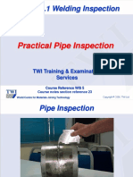TWI CSWIP 3.1 23 Practical Pipe Inspection 2006