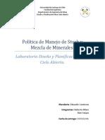 Políticas de Manejo de Stock y Mezcla de Minerales (1)