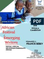 Clijec Dossier Présentation du Festival Africain des Écrivains  Émergeants