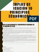 Ejemplos de Aplicación 10 Principios Económicos