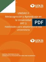Ppt 3 Habilidades Para Adaptarse a La Vida Universitaria