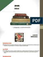Tipos de Narradores Octavo