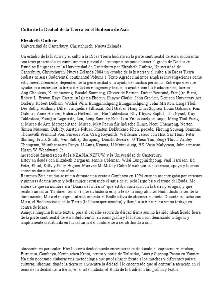 z100 Culto de la Deidad de la Tierra en el Budismo de Asia