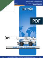 Especificaciones Grove RT760E
