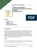 Resumen Readers Guide for What Doctors Feel