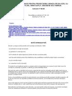 Instrucţiuni Tehnice Pentru Proiectarea Grinzilor Din Oţel Cu Secţiune Plină,Inima Supla,Omogene Sau Hibride p108-80