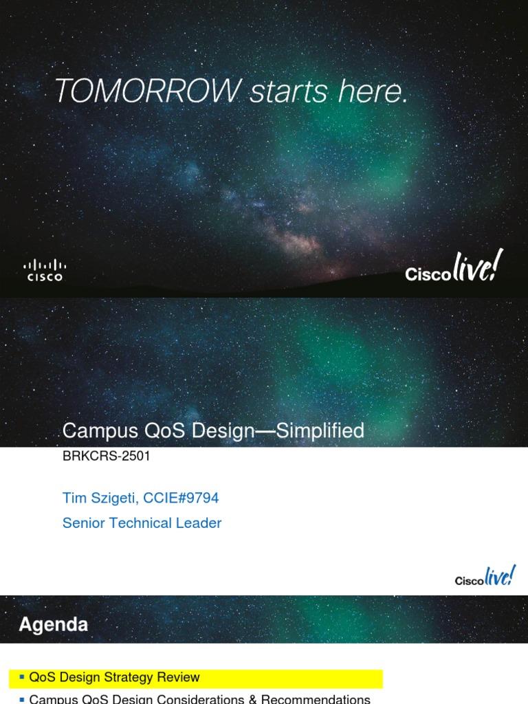 QoS Campus Design Cisco | Quality Of Service | Voice Over Ip