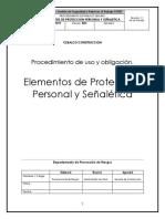 Pr-sg-pts 025 Elementos de Proteccion Personal y Señaletica.