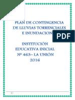 Plan Contingencia Lluvias Torrenciales Ie 463 Prof. Giamnina 2016
