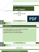 Topik 1. Pengantar Perkuliahaan Ilmu Tanah