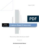 Company Name Etymologies v 1.1