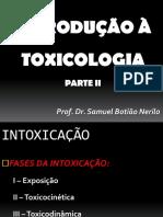 1-Introdução à Toxicologia II 2018