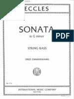 eccles sonata per contrabbasso e piano