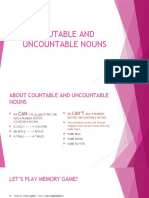 Coutable and Uncountable Nouns