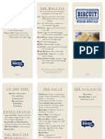 Seattle Biscuit Company Sample Menu, March 2018