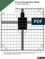 Improved AR15 Optic Target 50M