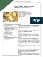 Calabaza Rellena Dietética en Horno Turbogrill