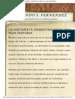 Armando s. Fernandez_ La Historieta Argentina Tiene Una Rica Historia