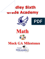 lsga math mock milestone student version
