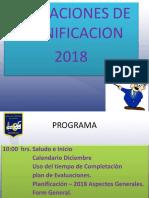 Indicaciones de Planificacion - 2018 Final