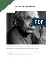25 Lecciones de Vida Según Albert Einstein
