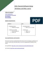 COMP 102x Tutorial Software Setup Win Mac
