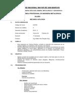 Silabo Mecanica Aplicada 2015-II